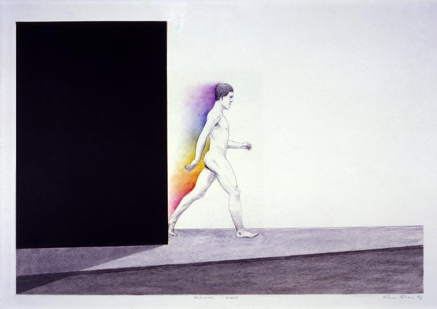 Antonio Peticov (Assis, 1946- ) Morning Walk 2010. Desenho, 70 x 100 cm.
