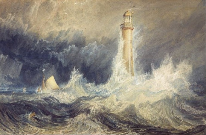 TURNER, J.M.W. (1775-1851), Bell Rock Lighthouse, 1819