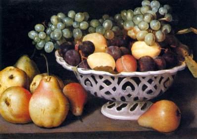 Fede Galizzia, Bacia de frutas, c. 1610