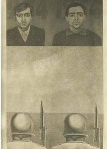 Gontran Guanaes Netto,  autoretrato, 1954-1964;  recorte fotográfico em P&B, 1980