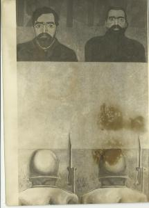 Gontran Guanaes Netto, autoretrato, 1972; recorte fotográfico em P&B, 1980