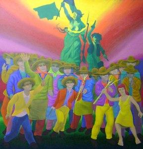 Gontran-Guanaes-Netto, 1989 A liberdade guianando o povo, 1989.