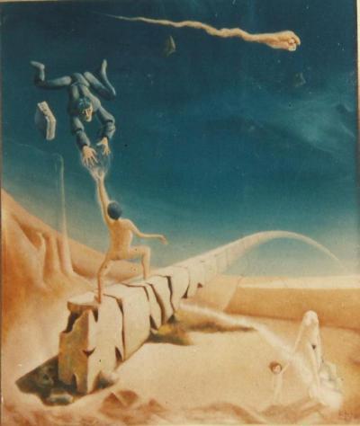Emmanuel Nery, Sucessor, 1988. Acrílico sobre tela 55 X 46 cm. Coleção Moacyr dos Reis Abreu, RJ