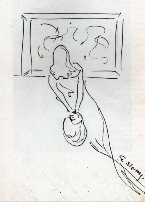 E. Nery, A mulher dos quadros do museu, 1988.