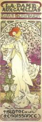Alfons Mucha (1886-1939) Cartaz de a Dama das Camélias interpretada por Sarah Bernhardt,, turnê Brasil/Argentina, 1886.