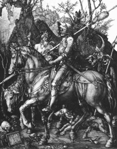 Dürer  o cavaleiro e o demônio