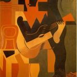 Juan Gris (Madri, Espanha, 1887- Boulogne-Billancourt, França, 1927), Harlequin with Guitar, 1919, Centre Pompidou, Paris.