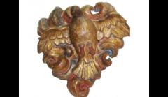 Anônimo. Divino Espírito Santo, século XVIII. Madeira policromada. Procedência São Paulo/SP. Acervo Museu de Arte Sacra de São Paulo.