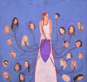 """Sérgio Augusto (Florestópolis, PR, 1993-) """"estamos todos no mesmo barco"""", 2016; mista sobre papelão, 70 x 70 cm"""