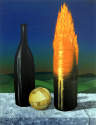 Antonio Peticov (Assis, 1946-) Opus 2 - Moon 2º Movement - Sabiá, 1998. ;gravura 107 x 70 cm. Série Releituras.