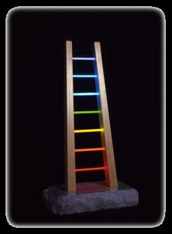 Antonio Peticov (Assis, 1946-) The Ladder, 1981. Escultura, 60 x 30 x 20 cm.