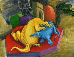 Antonio Peticov (Assis, 1946-) Ying & Yang, 2009. ; pintura, 27 x 35 cm. Série Releituras.