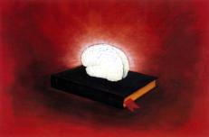 Antonio Peticov (Assis, 1946-) The Though, 1998. Desenho, 70 x 100 cm. Série Cérebros.
