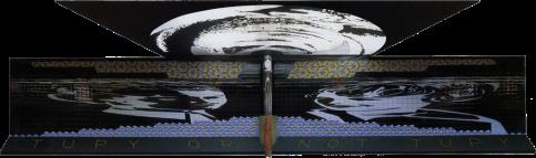Antonio Peticov (Assis, 1946-) Momento Antropofágico com Oswald de Andrade, 1990. ; Instalação no metrô de São Paulo, SP, estação Praça da República.