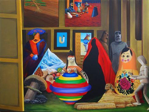 Antonio Peticov (Assis, 1946-)As Meninas do Antonio, 2017. Série Releituras,. 150 x 200 cm