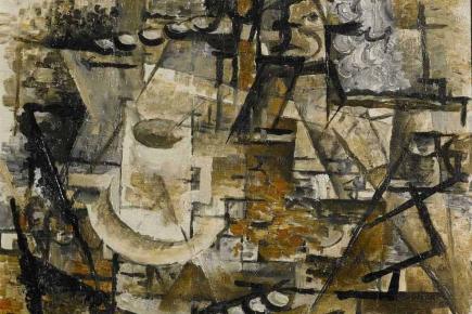 Georges Braque (Argenteuil, França, 1882- Paris, França, 1963), La Tasse, 1911 Óleo sobre tela 24,1 x 33 cm. Coleção particular.