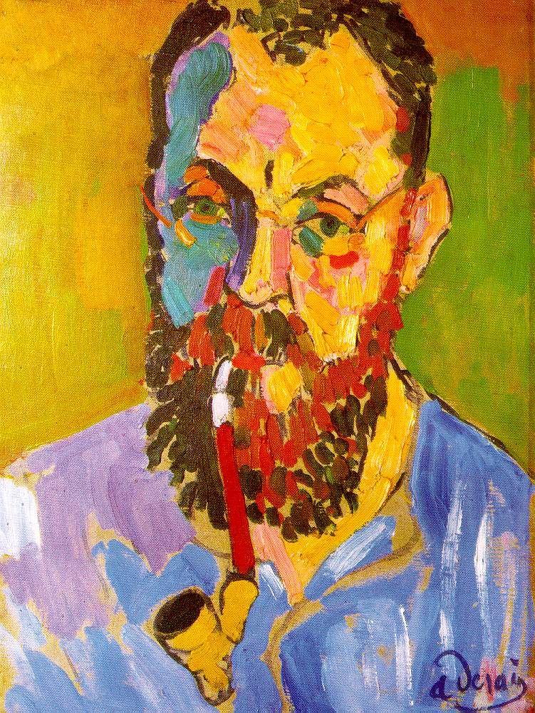 André Derain (Chatou, França, 1880 - Garches, França, 1954), Henri Matisse, 1905. Óleo sobre tela 46 x 34 cm. Tate Modern, London
