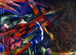 Franz Marc (Munique, Alemanha, 1880- Braque, França, 1916) O Destino dos Animais, 1913. Óleo sobre tela, 1,96 x 2,66 cm. Kuntmuseum, Basileia, Suíça.