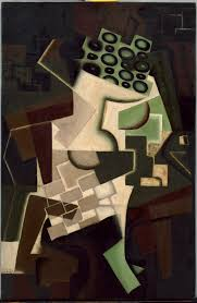 juan grisJuan Gris (Madri, Espanha, 1887- Boulogne-Billancourt, França, 1927), Fruta em uma toalha de mesa quadriculada, 1917. Óleo sobre madeira 80,6 x 53,9 cm. Solomon R. Guggenheim Museum, New York.