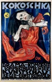 Oskar Kokoschka (Pölchrn, Áustria, 1886 - Montreaux, Suíça,1980), Pietà cartaz assassino, esperança das mulheres, 1909. Litografia. (MOMA)