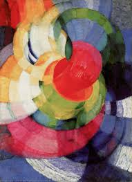 Kupka, F. (Opocno, República Checa, 1871 – Puteaux, França, 1957), Discos de Newton, 1911-12. Óleo sobre tela, 100 x 73 cm.