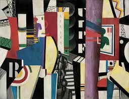 Fernand Léger (Argentan, França,1881-, Gif-sur-Yvette, França, 1955),   La Ville ( Cidade ), óleo sobre tela, 231,1 x 298,4 cm. Museu de Arte da Filadéfia.