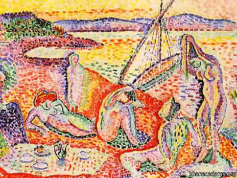 Henri Matisse (Le Cateau-Cambrésis, França, 1869- Nice, França, 1954), Luxe, Calme et Vulupté, 1904. Óleo sobre tela, 98,5 x 118,5 cm. Museu d'Orsay, Paris.