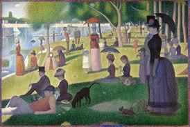 Georges Seurat (Paris, França, 1859- Paris, França, 1891), Tarde de Domingo na Ilha de Grande Jatte, 1884 – 1886. Óleo sobre tela 2017,5 x 308,1 cm. Art Institute of Chicago.