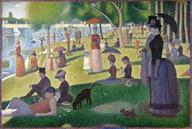 Georges Seurat (Paris, França, 1859- Paris, França, 1891), Tarde de Domingo na Ilha de Grande Jatte, 1884 – 1886. Óleo sobre tela 2017,5 x 308,1 cm. Art Institute of Chicago.