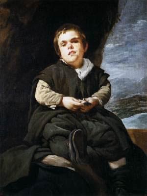 Diego Rodríguez de Silva VELÁZQUEZ (Sevilha, Espanha, 1599 – Madrid, Espanha, 1660) Francisco Lezcano, Ou O Menino de Vallecas, 1645. Óleo sobre tela, Museu do Prado (Madrid)