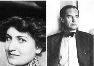Alma Mahler (Viena, Áustria, 1879- Nova Iorque, Nova York, EUA, 1964), foto c. 1912; e Water Gropius (Berlim, Alemanha, 1883-Boston, Massachusetts, EUA, 1969) Foto c. 1915.