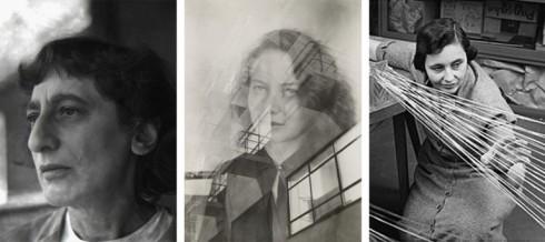 Anni Albers (Berlim, Alemanha,1899- Orange, Connectcut, EUA, 1994), Foto de Nancy Newhall, 1947; Gertrud Arndt (Racibórz, Polônia, 1903- Darmstadt, Alemanha, 2000) foto Otti Berger c. 1930;  Gunta Stölzl, (Munique, Alemanha, 1897- Zurique, Suíça, 1983. Foto s/d.